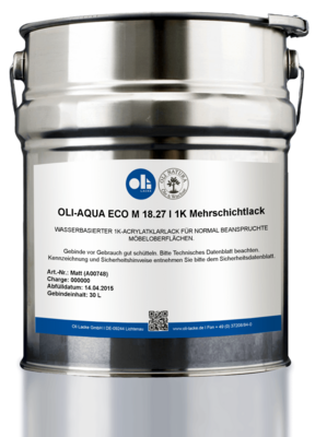 ОЛИ-АКВА ECO M 18.27 I 1K-Многослойный лак